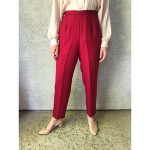 VINTAGE | Patriotic Red high waisted ankle pants